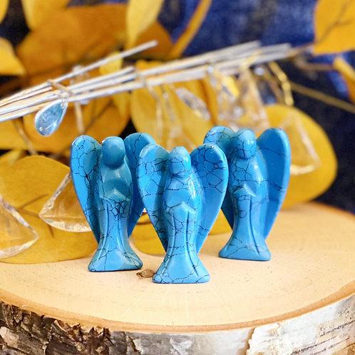 Blue Howlite Angels for Calming Temperament