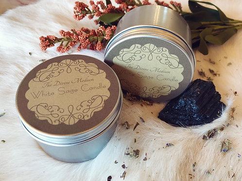 White Sage Infused w/ Black Tourmaline Candle