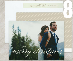 wedding holiday card
