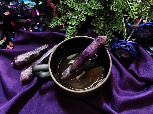 Chevon Amethyst Energy Beam Wand for Powerful Healing Activation