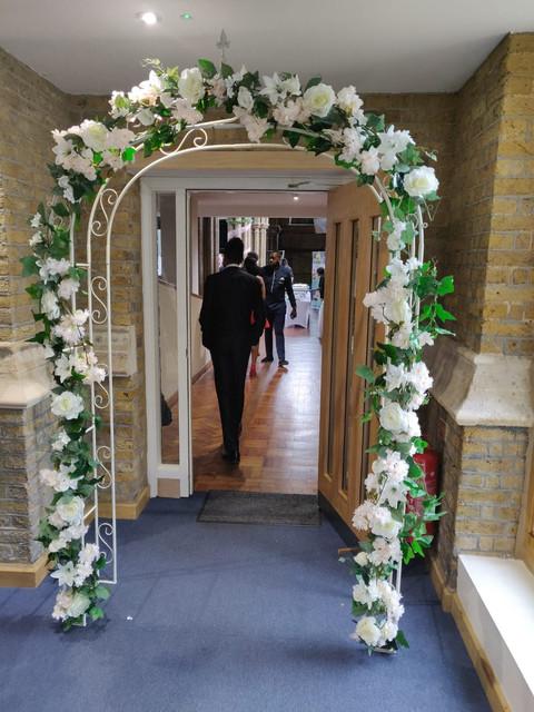 Ivory Flower Arch
