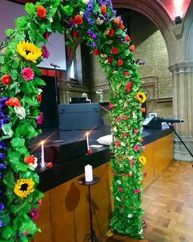 Summer Flower Arch - Wedding Ceremony