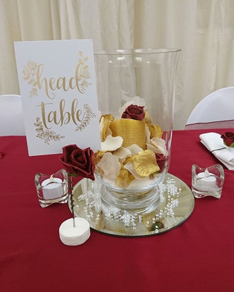 Burgundy and Gold Themed Wedding