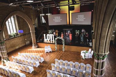 Gold themed Wedding Ceremony