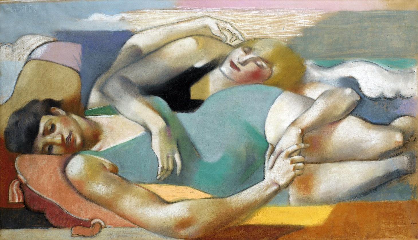 1928_На пляже (Sur la plage)_93 х 160_бу