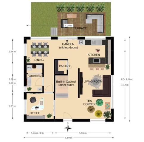 NEW Floorplan, The Smith House 87m2