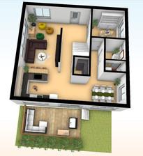 3D Floorplan, The Smith House 87m2
