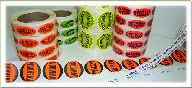 Étiquettes Fluos