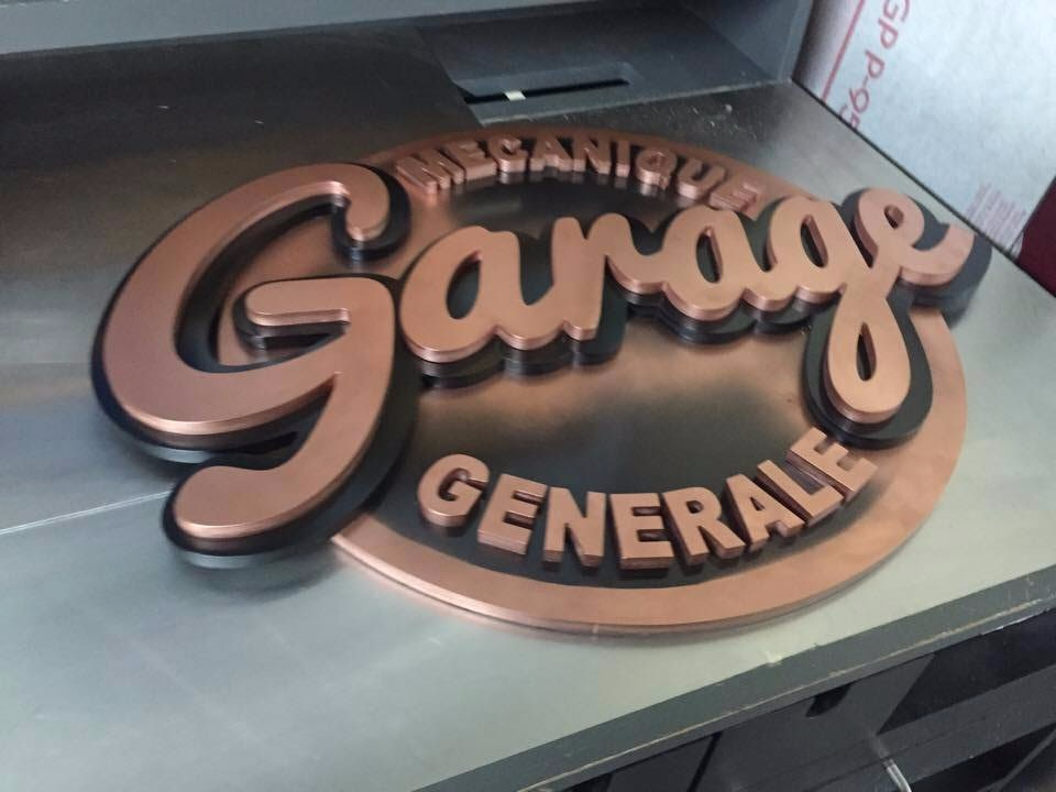 Affiche Garage 3D