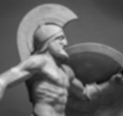 Greek Ancient Sculpture of Warrior