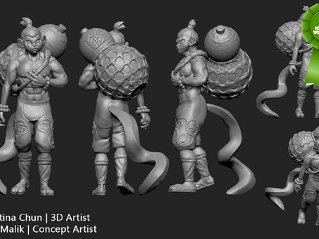 5th Place: 3D Printer World Expo Character Art Contest!