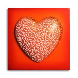LOVE RED ORANGE 2016 55X55X11CM LOVE
