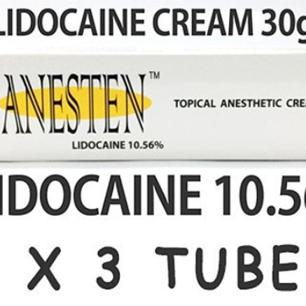 ANESTEN-3 tube! 10.56% Lidocaine Numbing Cream(30g)