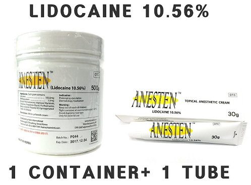 ANESTEN-1 Containers+1 tube(530g) 10.56% Lidocaine Cream