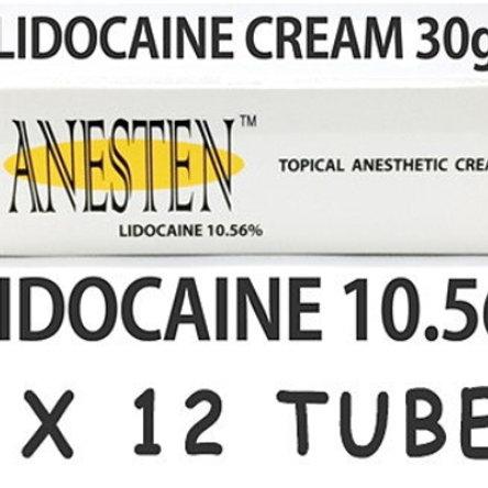 ANESTEN-12 tube! 10.56% Lidocaine Numbing Cream(30g)
