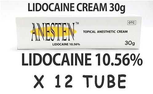 ANESTEN CREAM -12 tube! 10.56% Lidocaine Numbing Cream(30g)