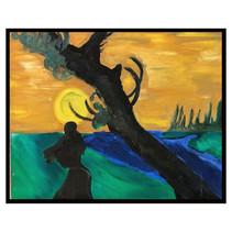 """El Silbon"" 2001 Oil on Canvas 27 x 19 inches 70 x 50 cm (unframed)"