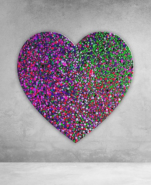 heart made by dots