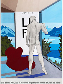 """""""The Lost Room"""" (Self-Portrait) 2019 Acrylic on Canvas 39 x 27 inches 100 x 70 cm (unframed) [ SOLD ]"""