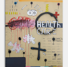 """Health care"" 2019 Acrilyc on canvas 39 x 35 inches 100 x 90 cm (unframed)"