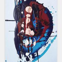 """Volumen 6"" 2018 Acrilyc on illustration board 10 x 15 inches 25 x 38 cm (framed) [ SOLD ]"