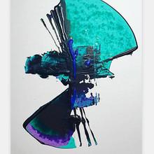 """Volumen 5"" 2018 Acrilyc on illustration board 10 x 15 inches 25 x 38 cm (framed) [ SOLD ]"