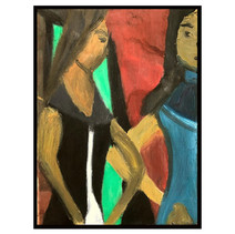 """""""Gossip people"""" 2001 Oil on Canvas 19 x 27 inches 50 x 70 cm (unframed)"""