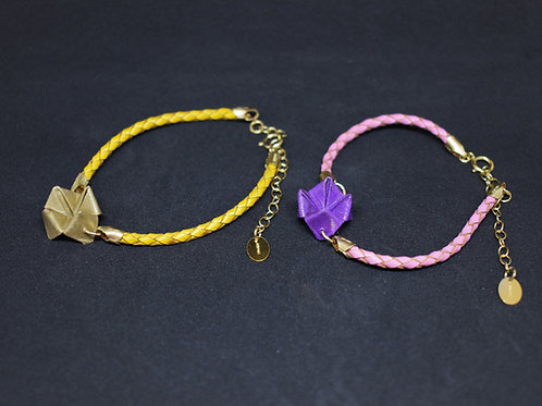 Bracelet Cocotte - Cuir et Gold Filled 14 Carats