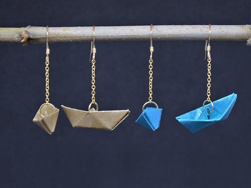 Boucles d'oreilles Bateau - Gold Filled 14 Carats
