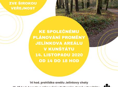 Zveme Vás ke společnému plánování proměny Jelínkova areálu