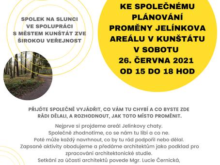 Zveme na společné plánování proměny Jelínkova areálu v sobotu 26. června 2021 od 15 hodin