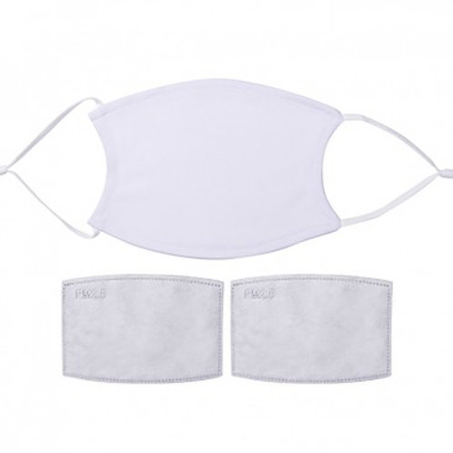 Polyester Face Mask with Filter - White