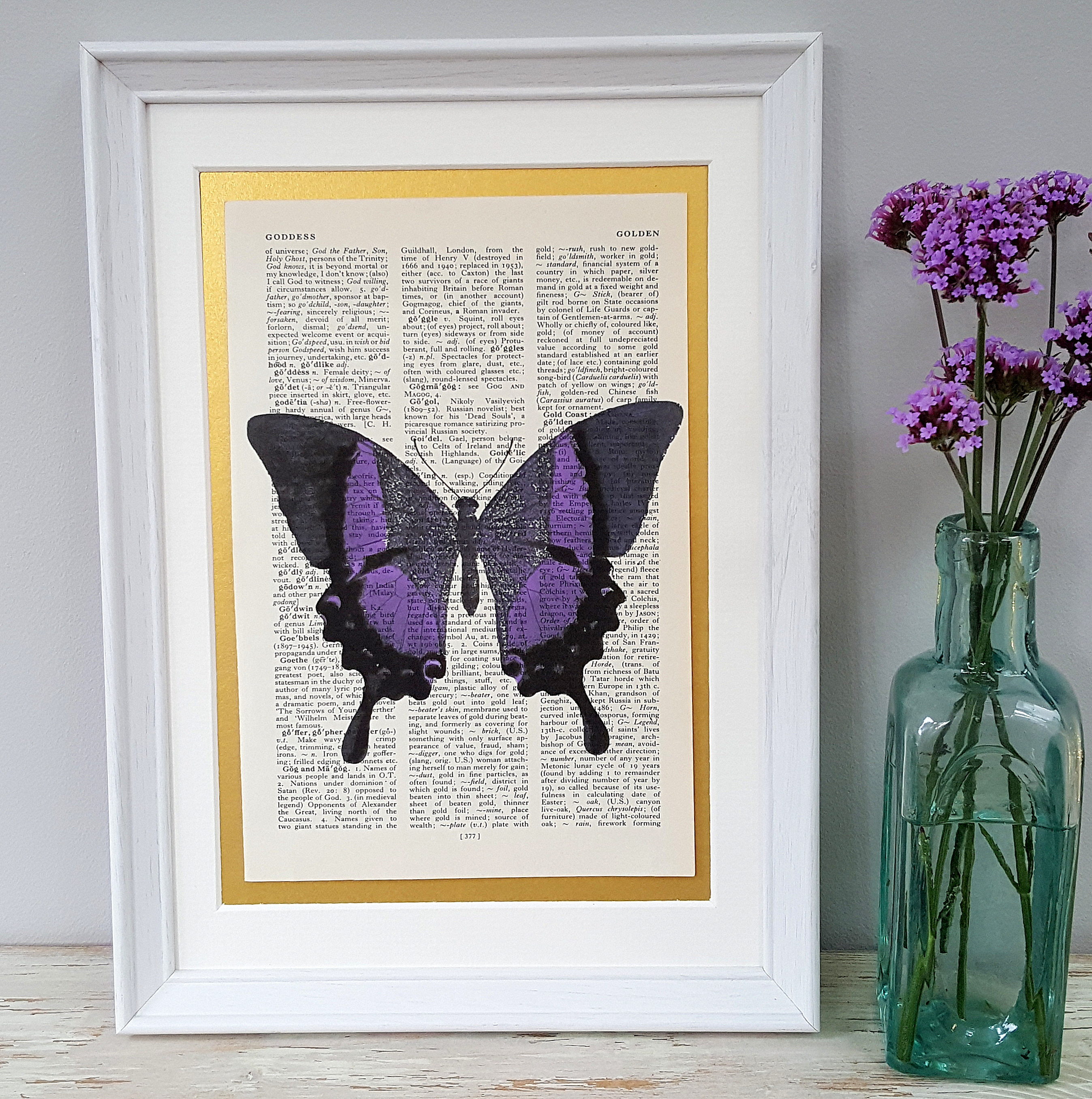 Purple Butterfly Print