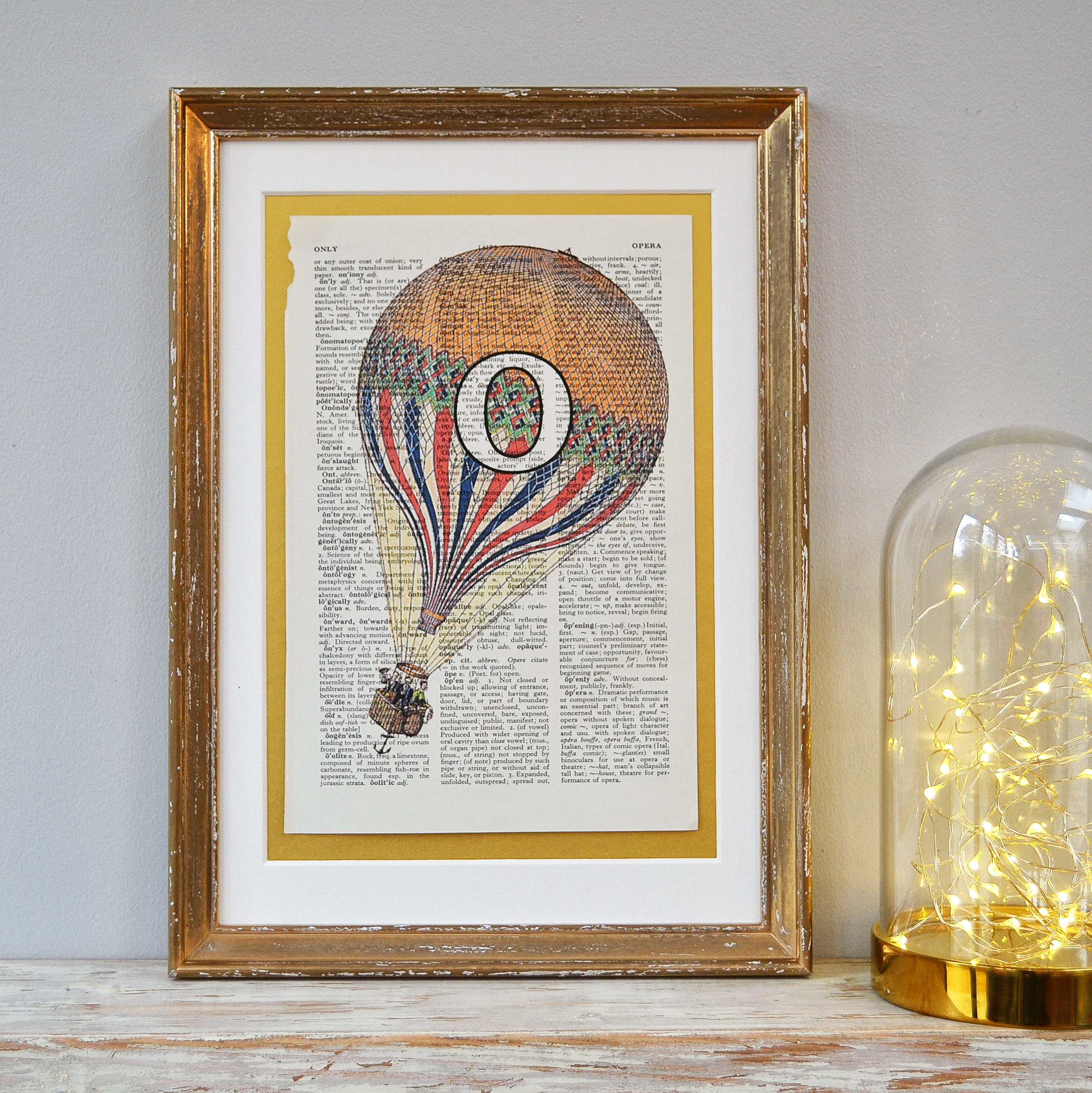 Personalised Balloon Letter Print