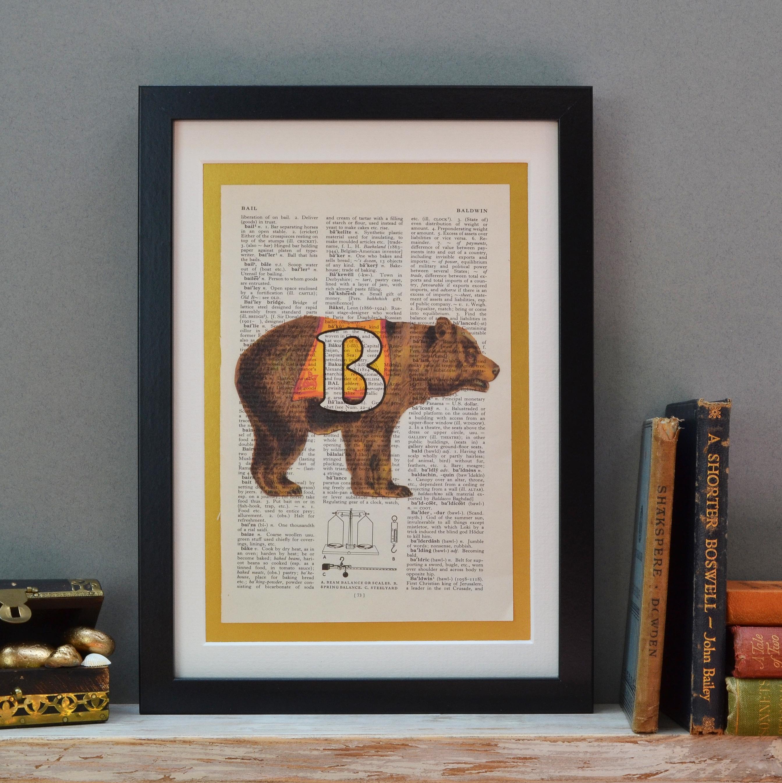 Bear Letter Print