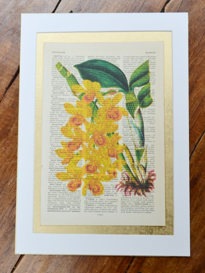 Yellow orchid print