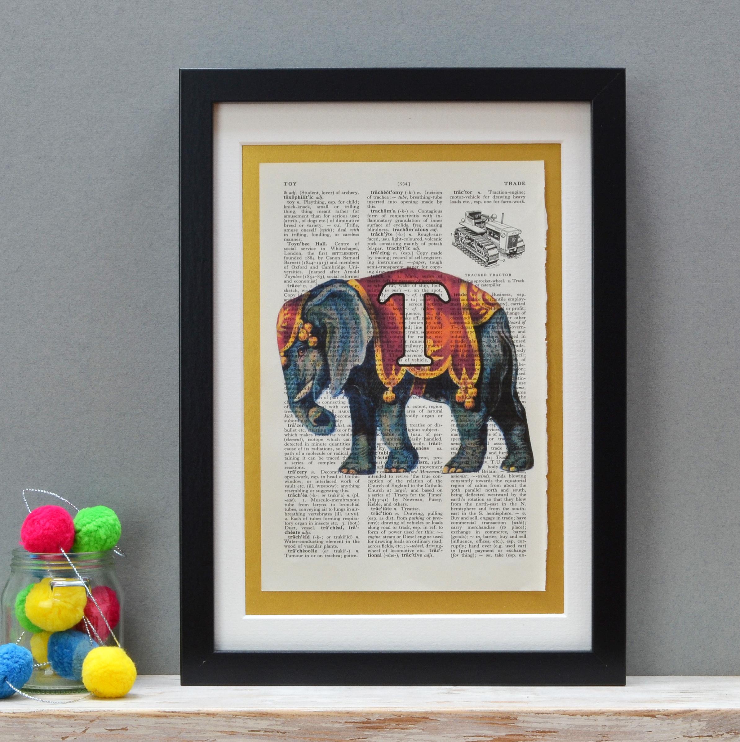 Elephant Letter Print