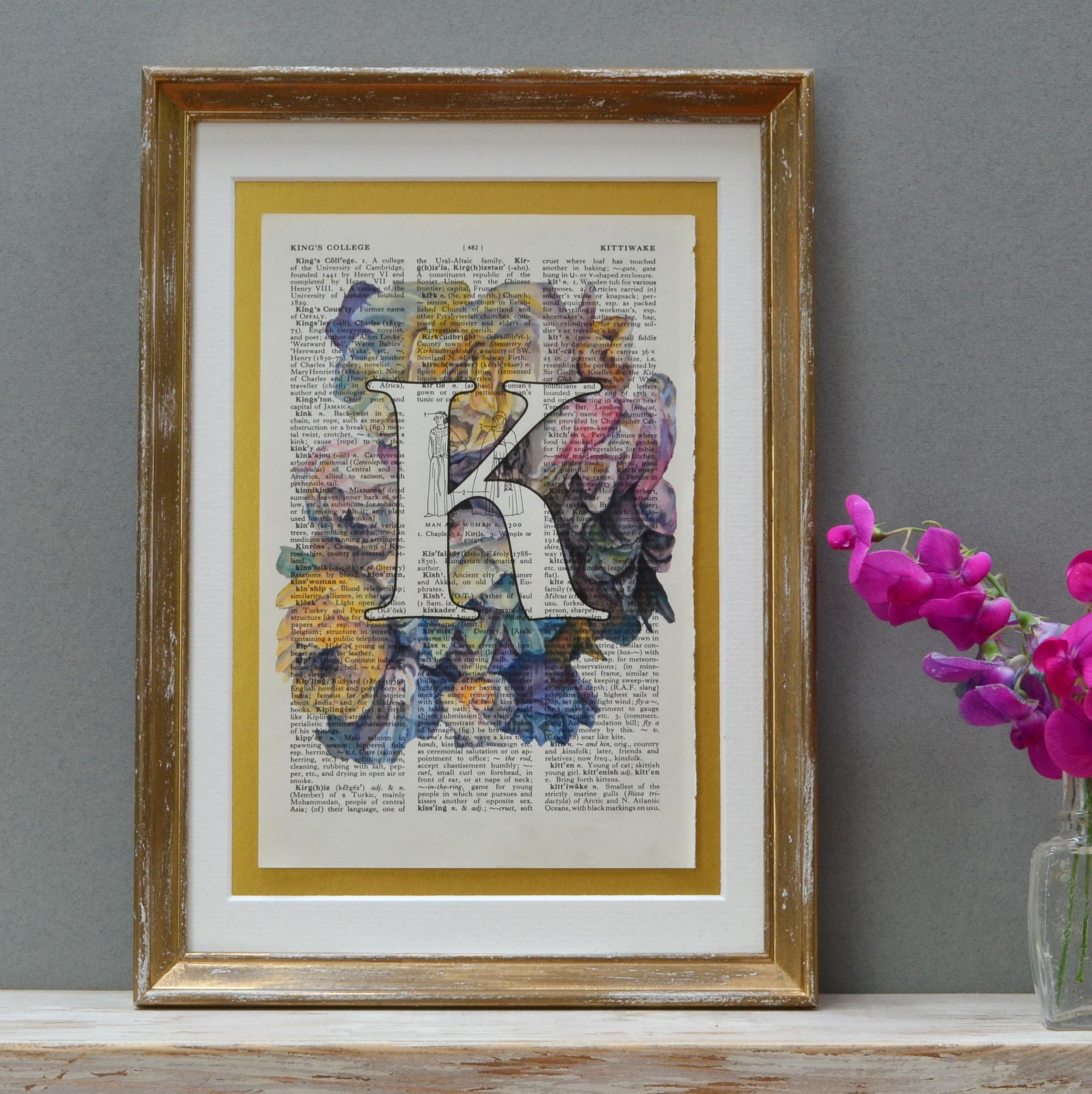 Vintage Roses Multi Letter Print