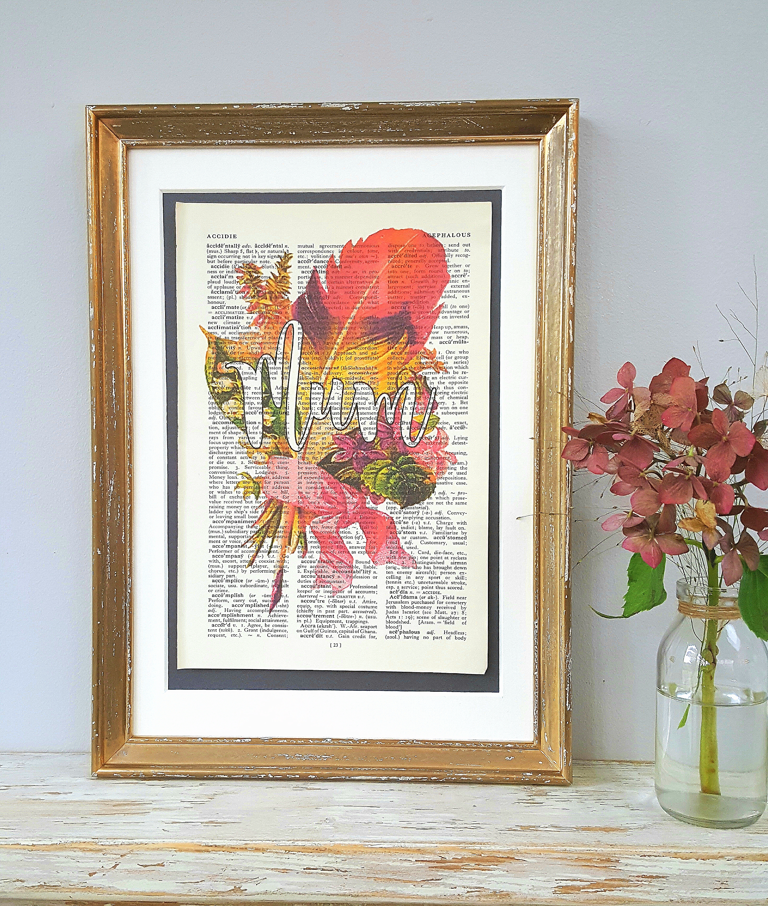 Feather Bouquet Name Print