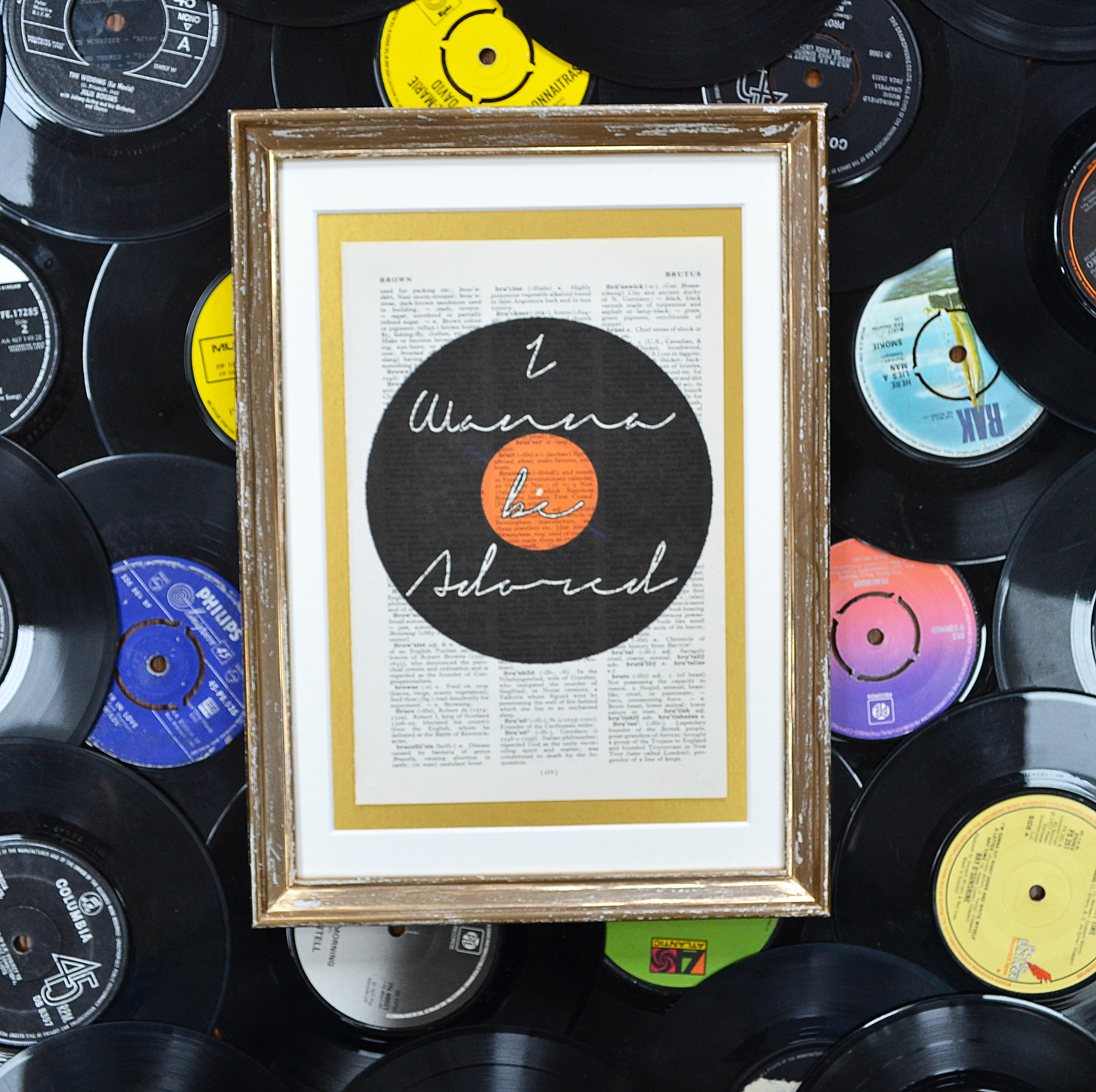 Vinyl Record Lyrics Print