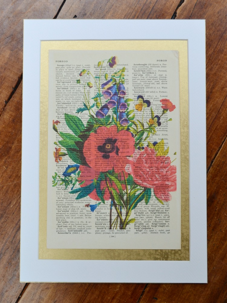 Poppy bouquet print