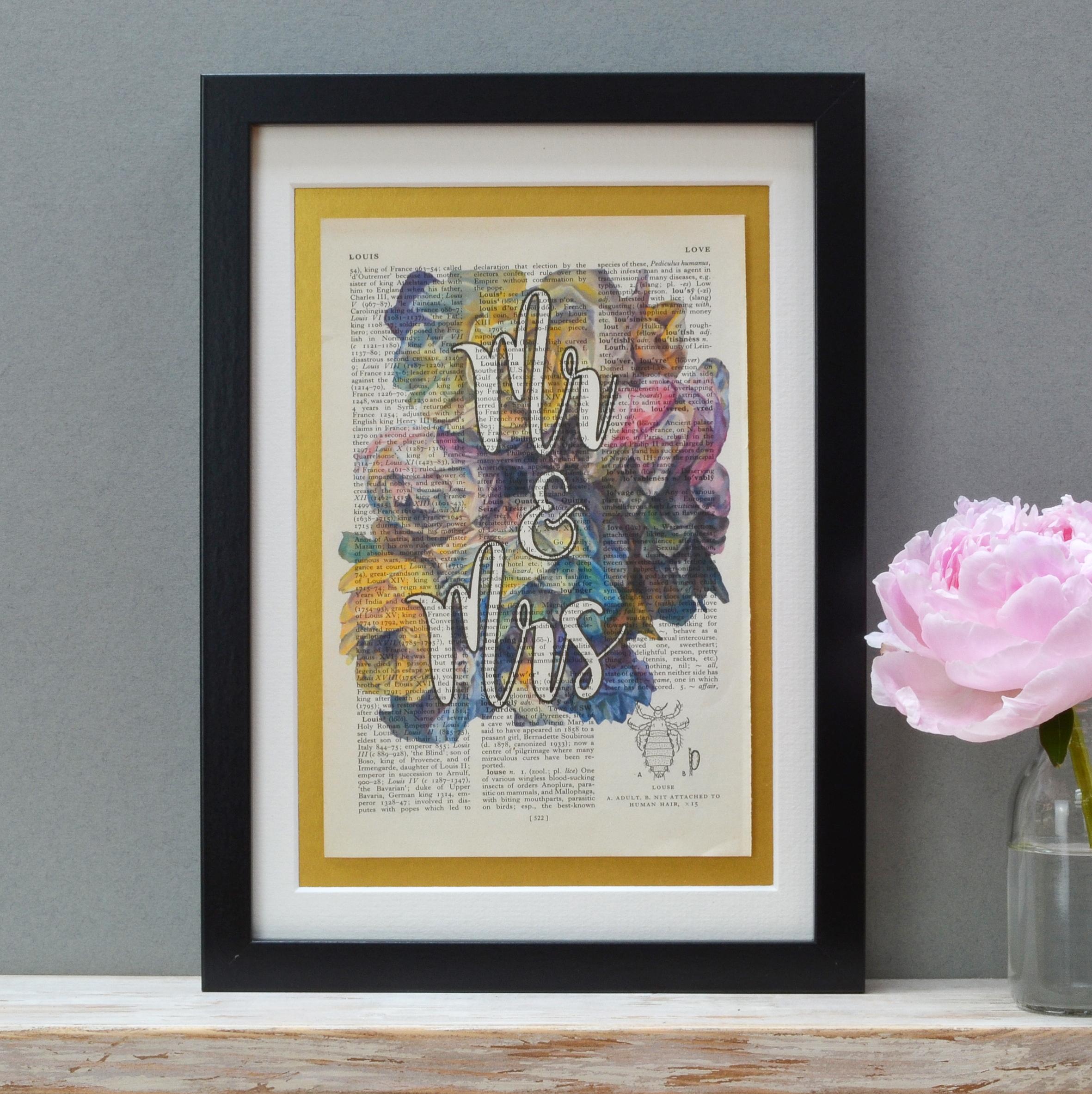 Vintage Roses Wedding Print