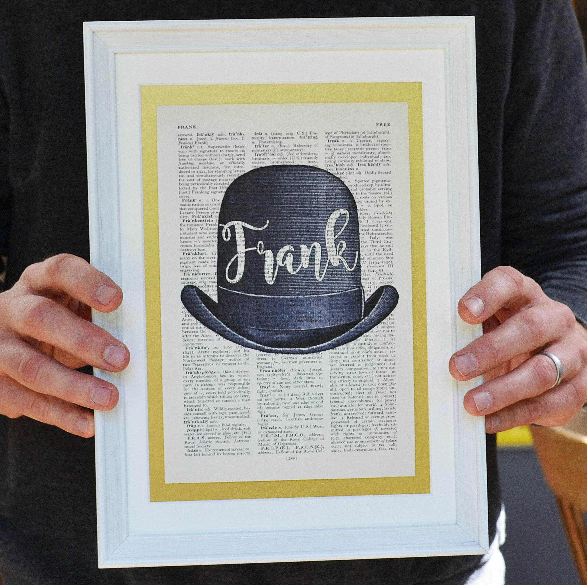 Bowler Hat Print