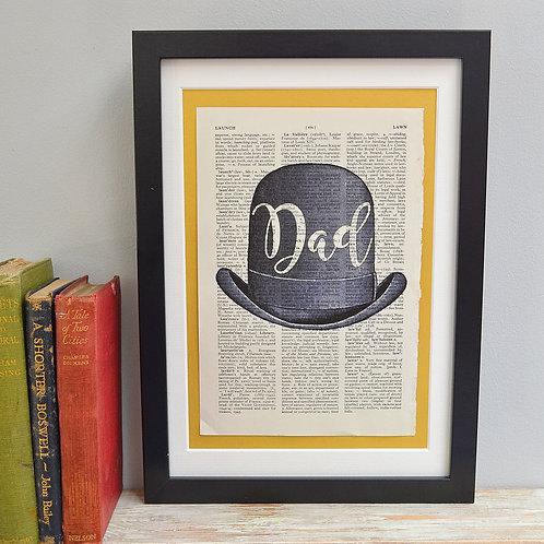 Personalised Bowler Hat Print