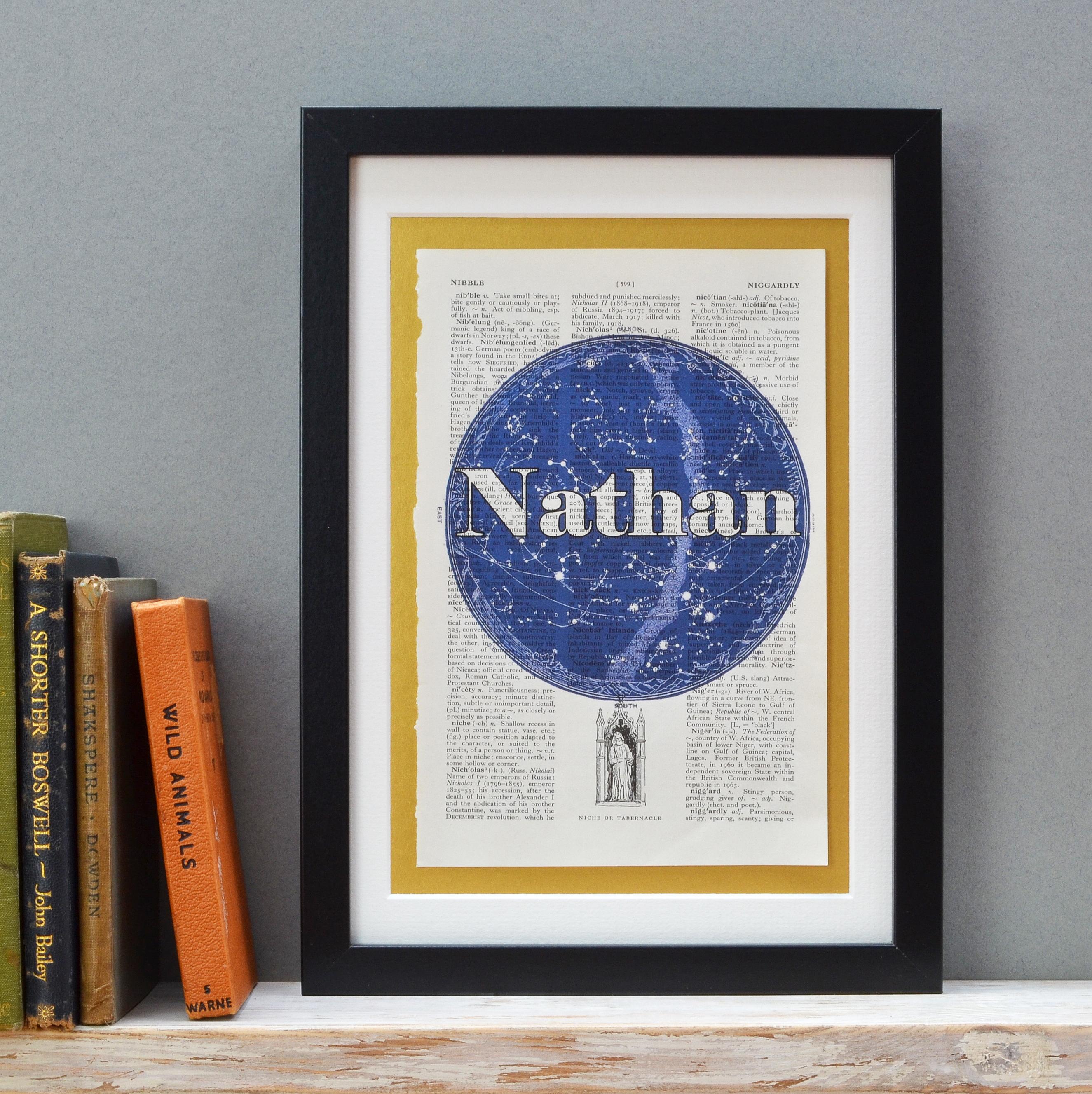 Celestial Chart Name Print Bold