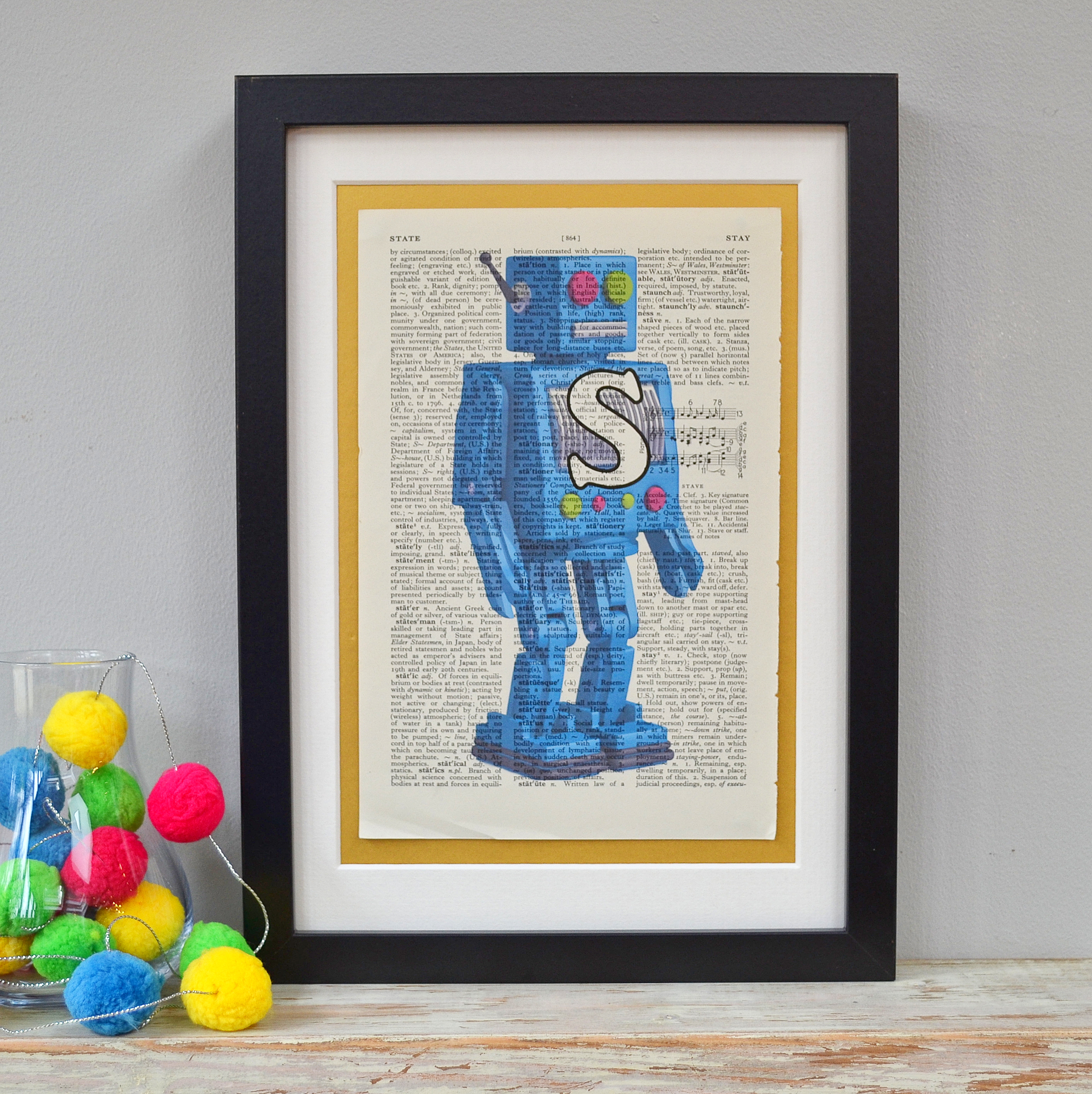 Personalised Robot Letter Print