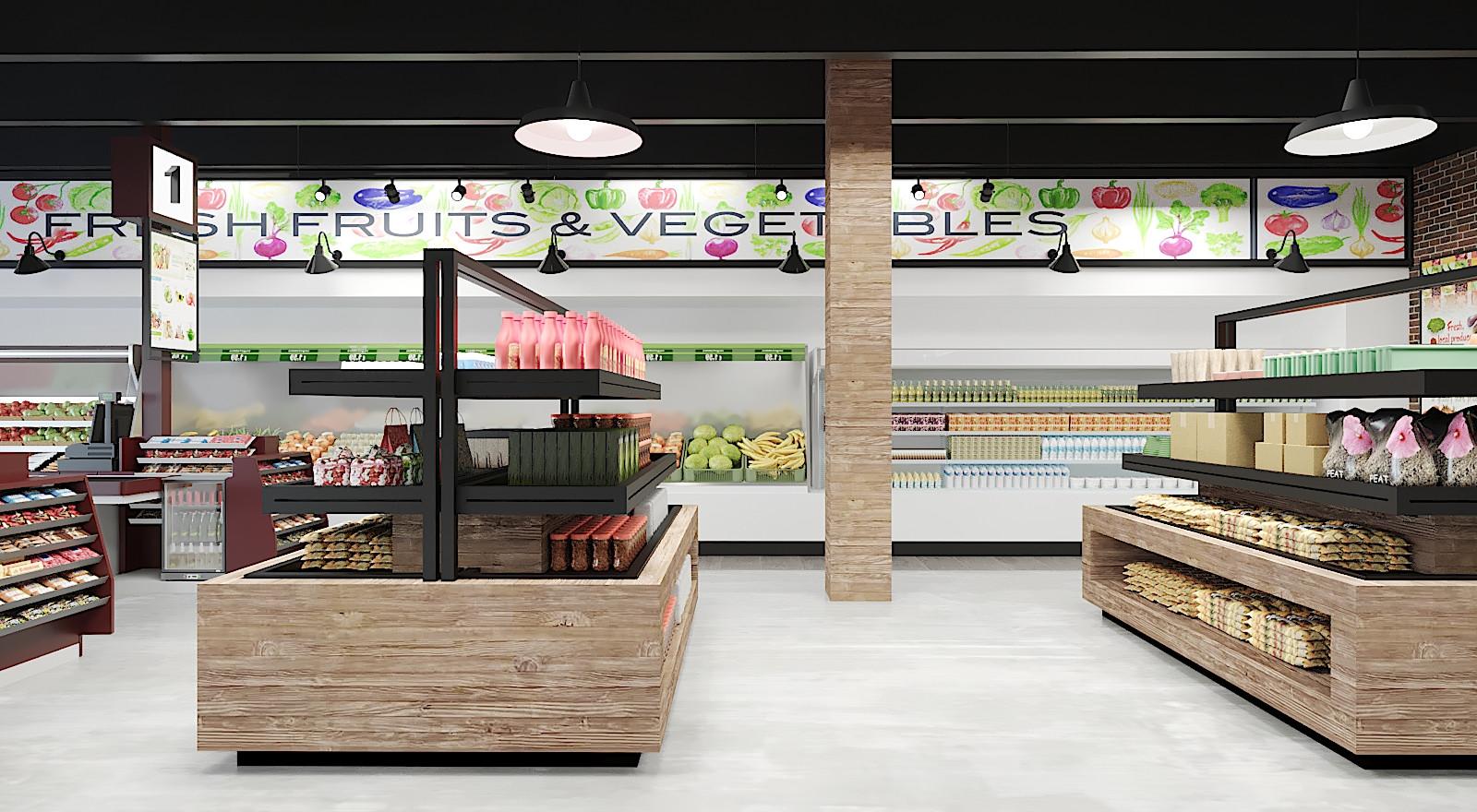 New Interior of Kosher Market