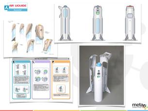 Portfolio concept bouteille Présence Air Liquide