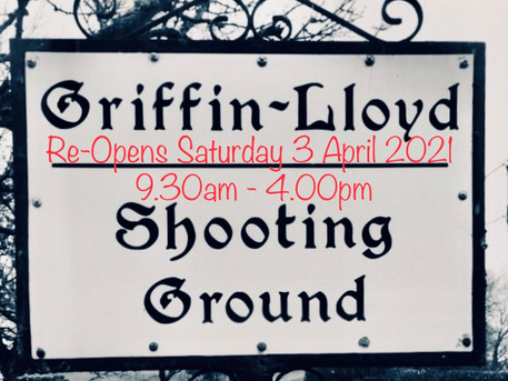 Griffin-Lloyd SG will re-open on Saturday 3 April 2021