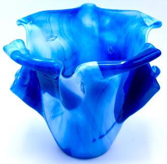 Blue fusing vase